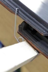 ORKAflex-Universalsturmfeder im eingebauten Zustand